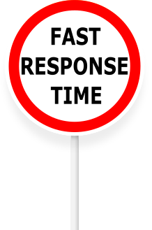 We aim to give a 1 hour responce